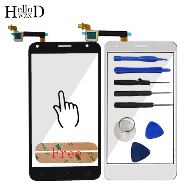 AAA High Front Sensor For Alcatel One Touch Pixi 4 5.0 5010 OT5010 5010D 5010E 5010G Touch Screen Glass Digitizer Panel Adhesive