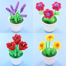 DIY Flower Craft Kit Kindergarten Kids Creative Educational Toy Room Decoration(China)