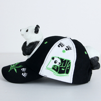 3D amusement park parent child cartoon hat camouflage dinosaur hat doll cap adult baseball cap animal panda cap