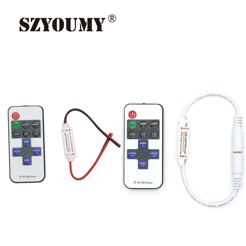 Painstaking Szyoumy 11 Keys Rf Wireless Dimmer Dc 12v Single Color Led Strip Remote Controller Apply To 5050 2835 5630 3014 Led Strip Dimmers