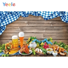 Yeele Oktoberfest Festivals Carnival Party Photo Backgrounds Food Beer Wood Board Custom Photography Backdrops For Studio