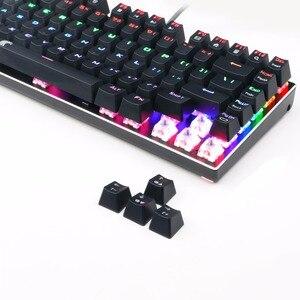 Image 2 - TKL Mechanical Keyboard multiple  Switches 81 keys rainbow LED Backlit Aluminum Gaming Keyboard with Detachable Cable Z88