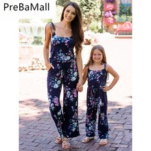 2019 Hot Sale Mother And Daughter Clothes Matching Family Outfits Jumpsuit Women Kids Floral Romper C56