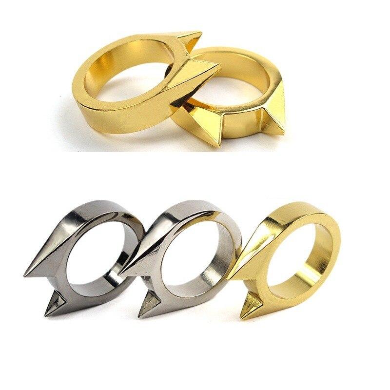 10 шт./лот EDC тактический Товары для самообороны инструмент Нержавеющаясталь Детская безопасность выживания палец кольцо обороны Интимные ...