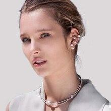hot deal buy sexemara 1pcs pearl ear cuff clip earrings 925 silver sterling earrings with cz zircon for women fine jewelry major ear stud