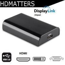 1080P USB 3,0 в HDMI конвертер USB 3,0 в HDMI DVI VGA видеоадаптер для windows 10/8/macbook air pro