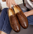 EAGSITY brogue vintage women oxford shoes british style women's tassel loafer shoes preppy street style flat shoes brown