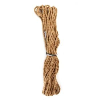 jute rope 3yd twisted round natural jute rope 0.24  Jute cord natural twine natural cord rope by the meter