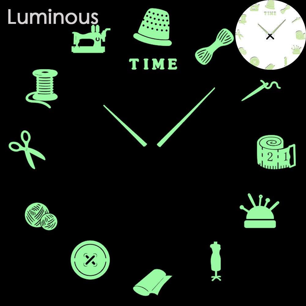27 различных дизайнов светящиеся настенные часы современный дизайн настенные цифровые большие Big3D DIY модные Saat Reloj Horloge klok - Цвет: wall clock 23