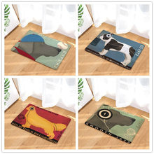 Gaya Anjing-Cetak Karpet Anti-Slip Tikar Outdoor Rugs-Pintu Depan Tikar 40X60or50x80cm(China)