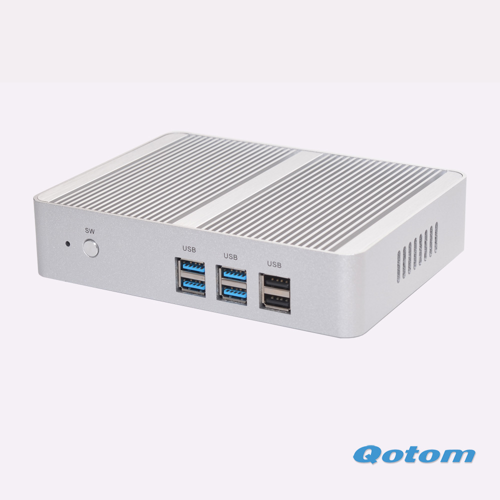 Hot Fanless nettop pc Qotom-M150S 4G ram NO SSD NO HDD 300M WIFI celeron N3150 up to 2.08Ghz 6*USB quad core Dual lan mini pc kingdel fanless business mini pc windows 10 8gb ram 256gb ssd intel celeron n3150 quad core htpc wifi dual hdmi dual lan