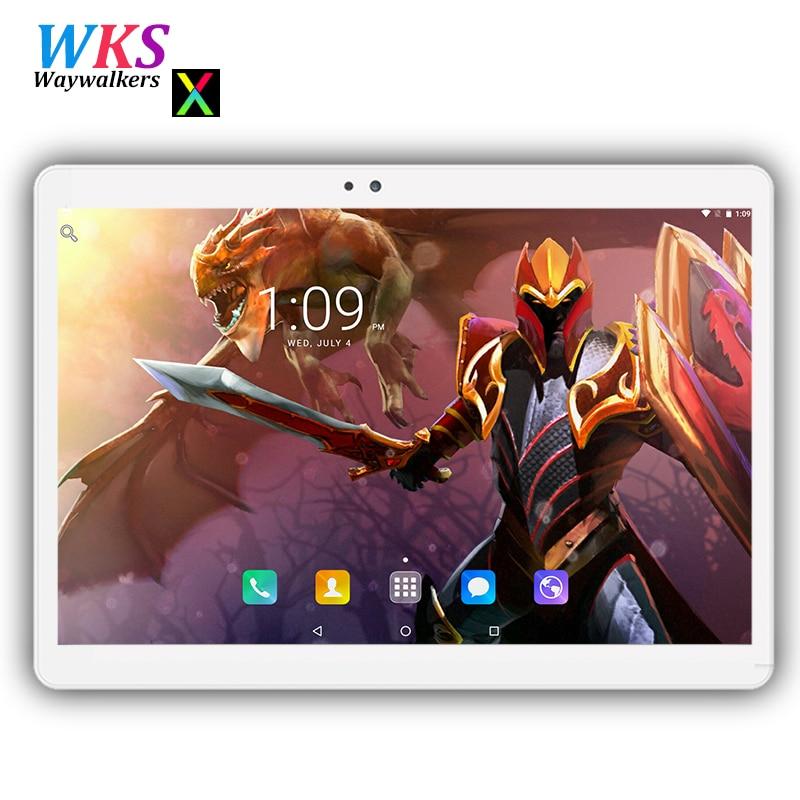 Più nuovo temperato 2.5D di Vetro 3g 4g Del Telefono 10 pollice tablet Android 7.0 Octa Core 4 gb di RAM 64 gb ROM Dual card Smart tablet pc 10 10.1