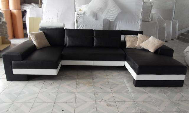 Sofá Frete Grátis 2015 Novo Design Moderno Tamanho Grande Sofá Em Forma De  U Sofás De