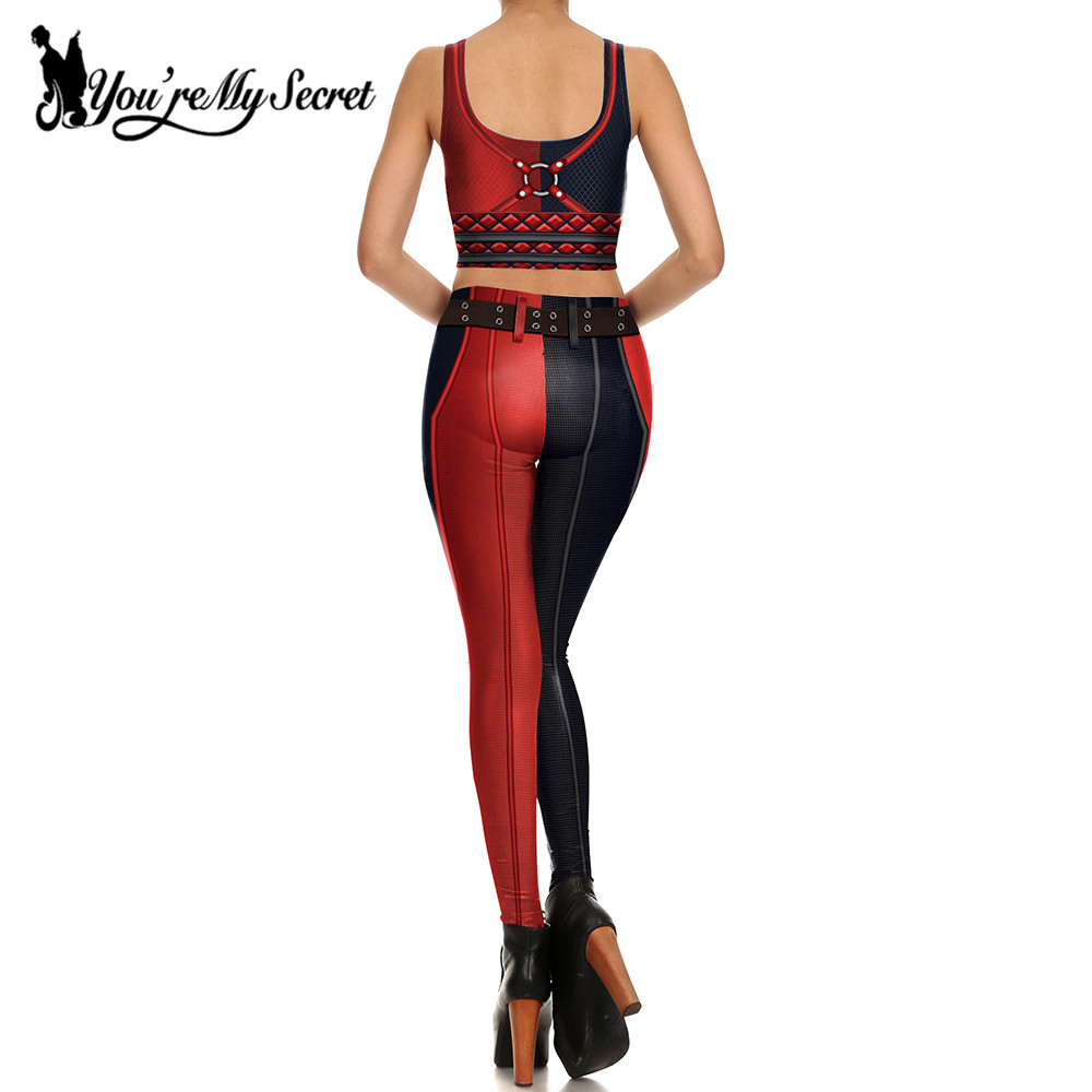 [T'es mon secret] Impression 3d Harry Quinn super héros Deadpool - Vêtements pour femmes - Photo 2