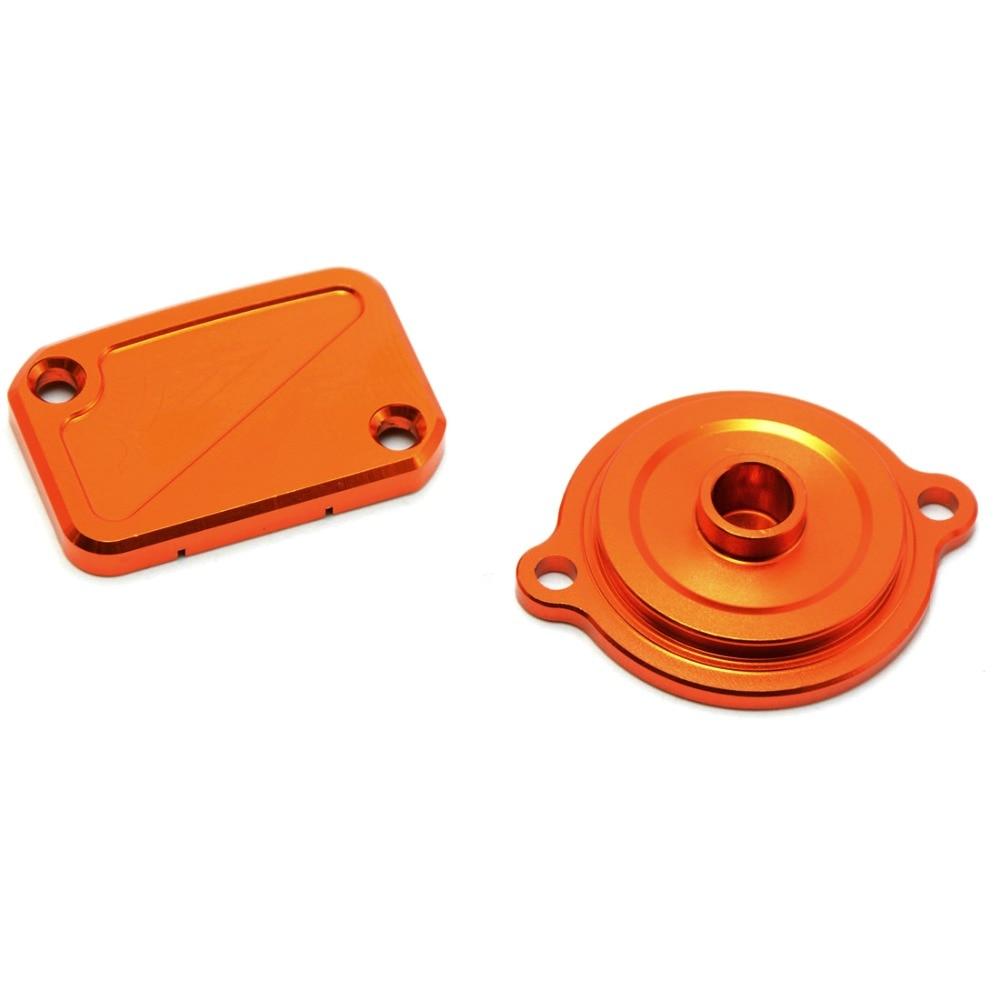 Bouchon de sortie radiateur orange pour moto Aluminium CNC pour Duke 125 200 390