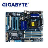 LGA 1366 для Intel X58 Gigabyte ga x58a ud3r материнской DDR3 USB3.0 24 ГБ SATA III X58A UD3R Desktop Systemboard используется