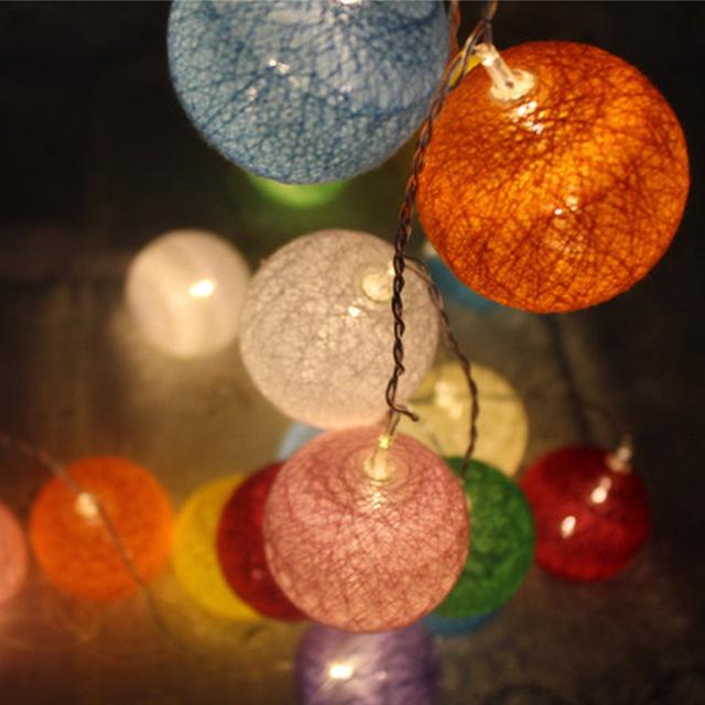 Juguete PELOTA de luz DE juguete de HADAS de luz DEL BANQUETE de BODA de Algodón de color