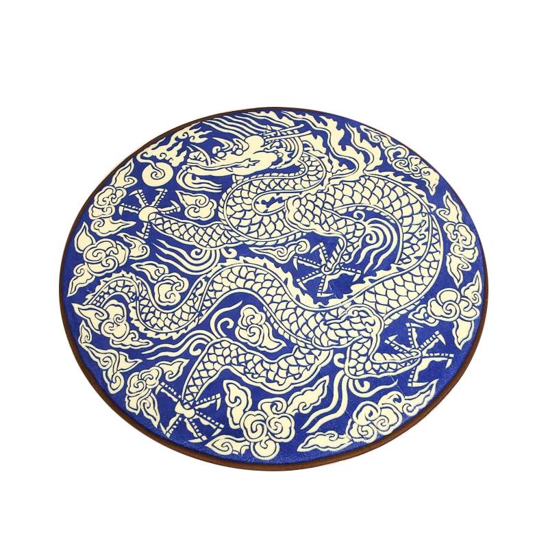 중국 골든 드래곤 거실 침실 원형 욕실 수분 흡수 두꺼운 카펫 미끄럼 매트