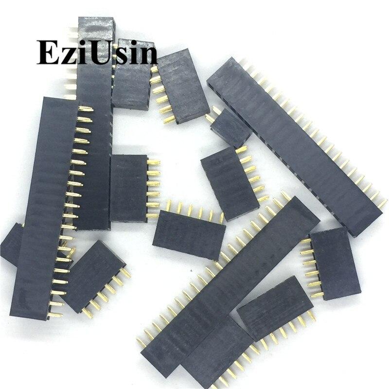2.0mm 2.0 Double Row Female 2~40P Breakaway PCB Board Pin Header Socket Connector Pinheader 2*2/3/4/6/10/12/16/20/40Pin