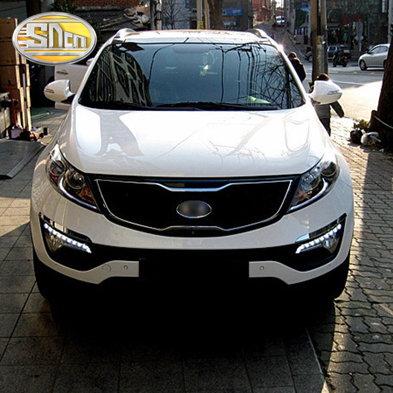 SNCN LED Daytime Running Light For Kia Sportage 2011 2012 2013 2014 2015 Car Accessories Waterproof
