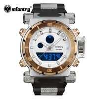 INFANTERIE Militär Uhr Männer LED Digital Quarz Herren Uhren Top Brand Luxus Armee Tactical Heavy Duty Silikon Relogio Masculino