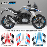 High quality Motorcycle 1set front&Rear Edge Outer Rim Sticker Wheel Decals 17 inch Tire Fit BMW G310GS 3 color