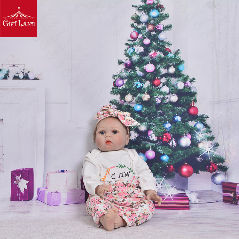Reborn Baby Doll 22inch Soft Silicone Stuffed Kids Plush Toys For Kids Christmas Gift High Quality Bebe Reborn Baby Kids LatestReborn Baby Doll 22inch Soft Silicone Stuffed Kids Plush Toys For Kids Christmas Gift High Quality Bebe Reborn Baby Kids Latest