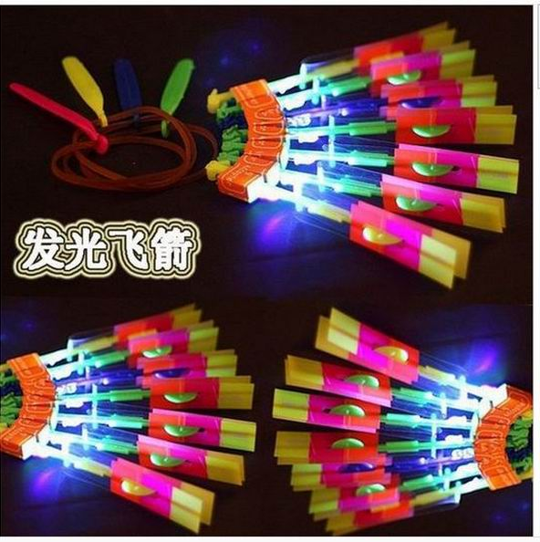 (500 pieces/lot) Flash Copter Arrow Helicopter Neon Led Light Amazing Elastic Powered LED Arrow Helicopter DHL Free Shipping
