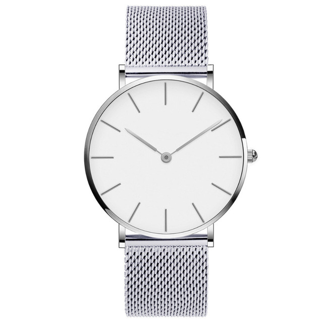 Drop Shipping Watches For Men Women Ultra Slim Quartz Watch with Simple Nylon Ba