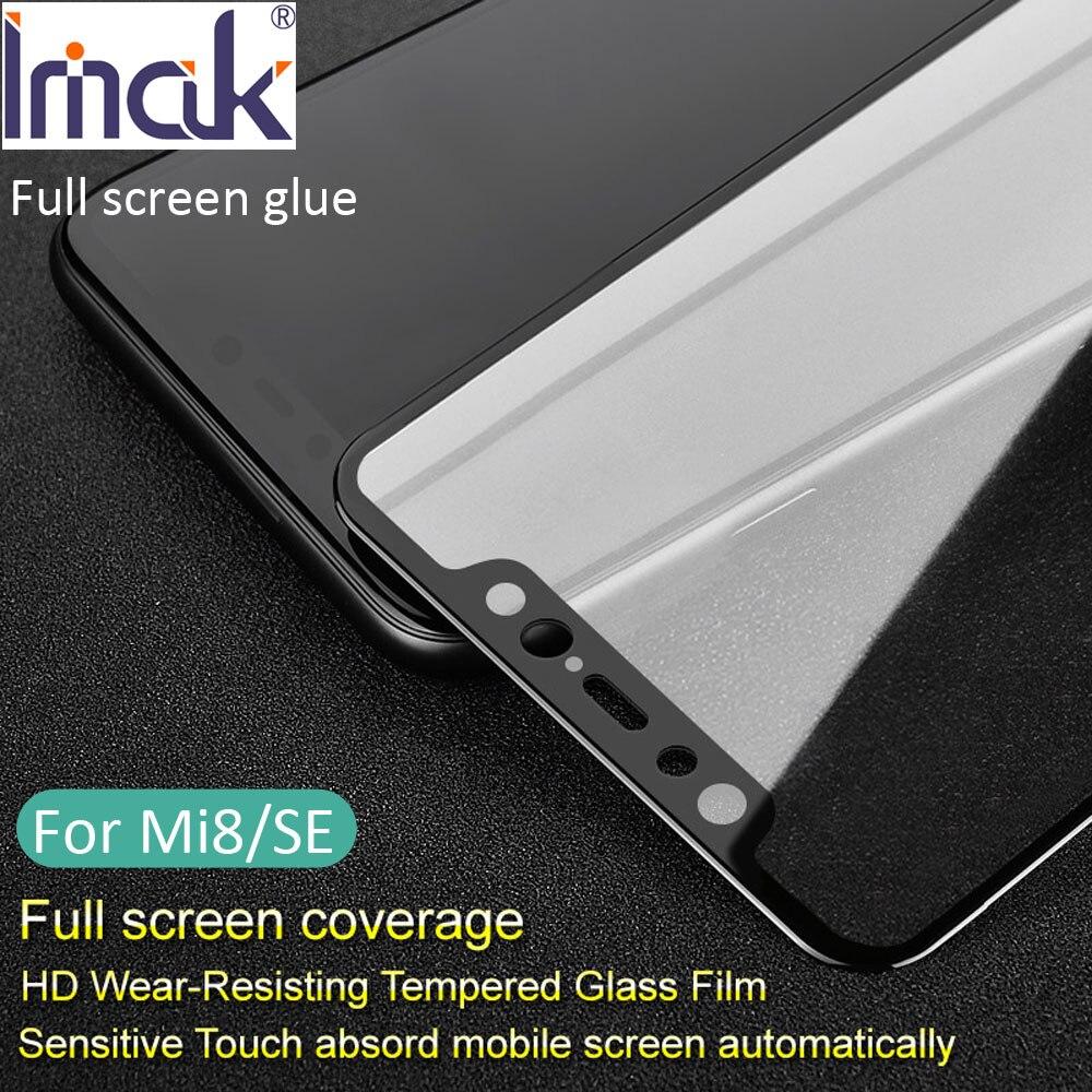 Imak Pro + Version Plein Écran Couverture De Colle De Protection En Verre Trempé Pour Xiaomi Mi8 Mi 8 Se 2.5D Courbe oleophobic