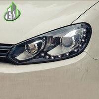 EN Car Styling Head Lamp Case For VolksWagen Golf 6 MK6 2009 2013 Headlights LED Headlight