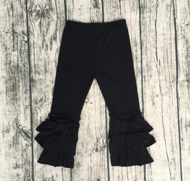 05bcb9f01 Baby Fashion Clothes Online Hot Sale Baby Girl Black Icing Long Pant ...