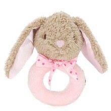 С милым принтом кролика игрушки для малышей, новорожденных погремушка мобильный Развивающие игрушки для мальчиков и девочек мягкая плюшевая игрушка с музыкальным младенческой малыша кровать игрушки