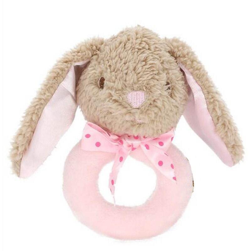 Baby Rattles Infant Animal Hand Bell Kids Plush Toy Development Rings Toddler Q