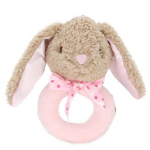 Cute Bunny Baby Toys Newborn Rattle Mobile Educational Toys For Boys Girls Soft Plush Toy with Musical Infant Toddler Bed Toys