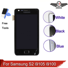 For Samsung Galaxy S2 Plus i9105 i9105p i9100 LCD Display Touch Screen Digitizer with Frame Assembly