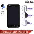 Para samsung galaxy s2 plus i9105 i9105p i9100 lcd pantalla táctil digitalizador asamblea con marco