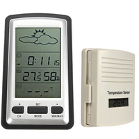 Digital Wireless Weather Station Indoor Outdoor Temperature Humidity Remote Sensor Date Controlled Backlight Table Clock