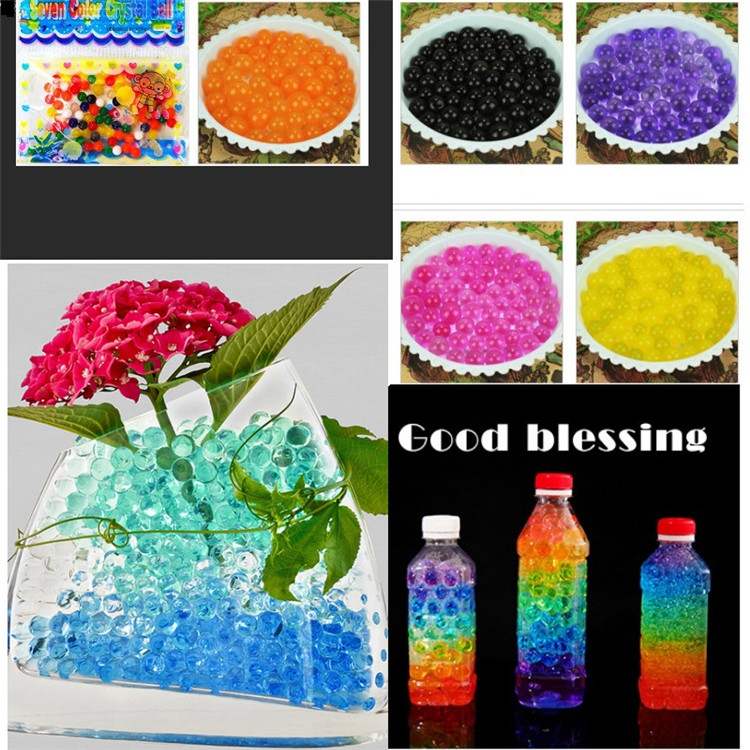 100 pcs/bag crystal earth beads gel ball polymer hydrogel crystal puree magic jelly wedding home party decoration Potting soil