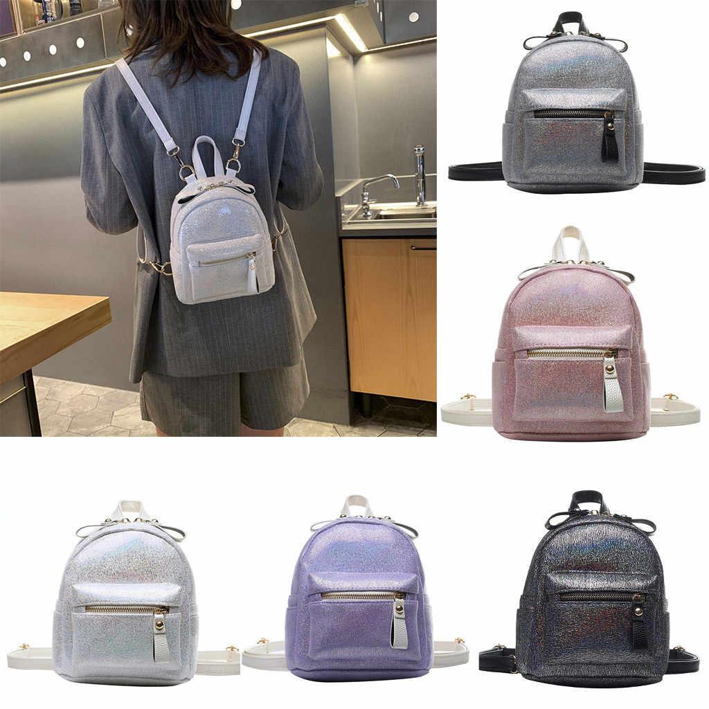 Модная женская блестящая сумка-мессенджер двойного назначения сумка на молнии маленький рюкзак Новый многофункциональный высококачественный Молодежный Подростковая сумка