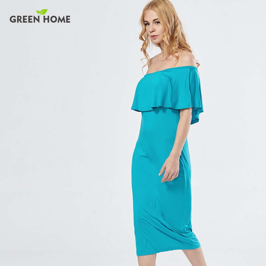 green home elegant tube maternity party dress mid calf summer