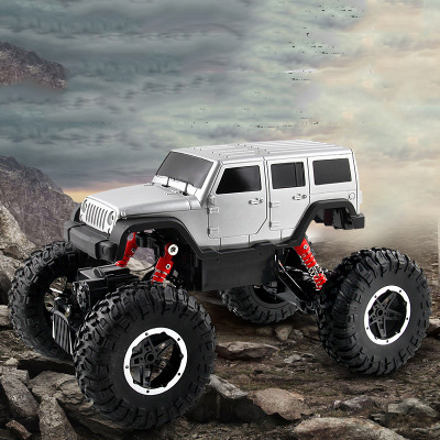 1:14 Wireless Remote Charging Version Climbing Jeep Four-Wheel Drive Off-Road Remote Control Car Model Toy
