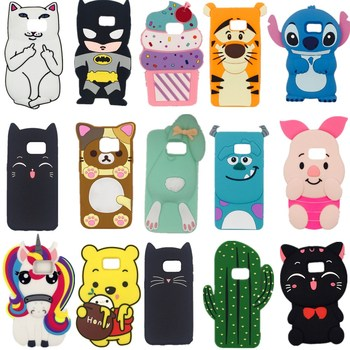 3D Silicon Cupcake Cat Sexy Lip Cartoon Unicorn Cartoon bottle Soft Case Cover for Samsung Galaxy S3 S4 S5 S6 S7 Edge S8 S8 Plus