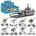 8 шт./компл. корабль строительные блоки комплект патрульный катер вертолет танк Chatiot образования военная кирпич игрушки , совместимые с Legoe