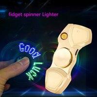 핸드 스피너 전기 라이터 USB 손전등 Fidget 손가락 전자 라이터 펄스 플라즈마 아크 텅스텐 라이터 남자 장난감 선물