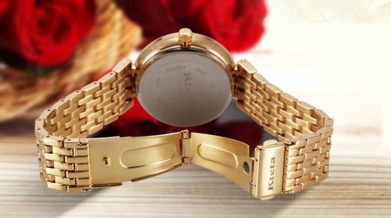Damskie zegarki marki luksusowe diament złoty zegarek panie zegarek - Zegarki damskie - Zdjęcie 6