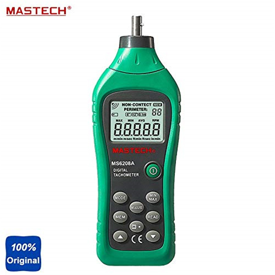 Professional MASTECH MS6208A Contact Digital Tachometer RPM Meter Rotation Speed 50-19999RPMProfessional MASTECH MS6208A Contact Digital Tachometer RPM Meter Rotation Speed 50-19999RPM