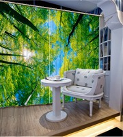 High Quality Customize Size Modern Green Forest 3d Wallpaper Fashion Decor Home Decoration For Bedroom Living