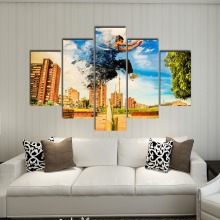 HD print home decoration painting 5 city running room poster frescoes digital