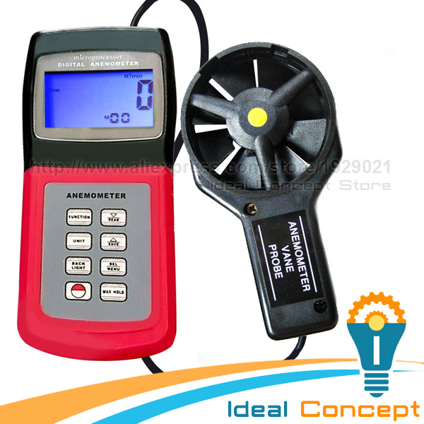 Thermo Anemometer Speed Air Wind Flow Temperature Velocity Beaufort Scale Weather Analysis Meter peakmeter ms6252b digital anemometer air speed velocity air flow meter with air temperature humidity rh usb port